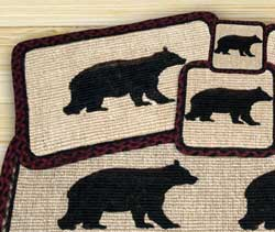 Cabin Bear Wicker Weave Coaster