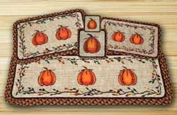 Harvest Pumpkin Wicker Weave Tablemat