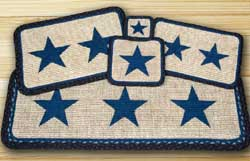 Blue Star Wicker Weave Tablemat