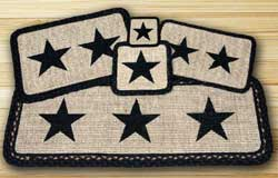 Black Star Wicker Weave Tablerunner (36 inch)