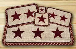 Burgundy Star Wicker Weave Tablemat