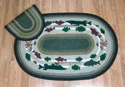 Fishing Lodge Jute Rug, Oval - 4 x 6 foot