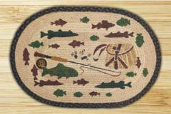 Fishing Lodge Braided Jute Rug