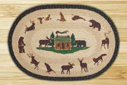 Cabin Lodge Braided Jute Rug