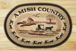Amish Country Braided Jute Rug