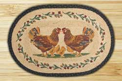 Country Chicks Braided Jute Rug