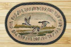 Flying Mallard Braided Jute Rug