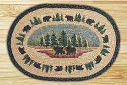 Wilderness Bear Braided Jute Rug