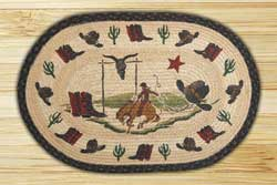 Bucking Bronco Braided Jute Rug