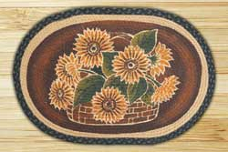 Large Sunflower Braided Jute Rug