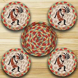 Kokopelli Braided Coaster Set
